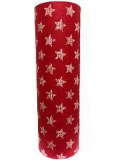 Baliaci papier 5 m hviezdičky - červený