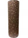 Recyklovaný baliaci papier 5m -hviezdičky - hnedý