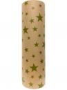 Recyklovaný baliaci papier 5m - zelené hviezdičky