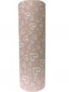 Baliaci papier vintage ružový 5m - srdiečka