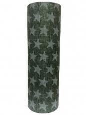 Vianočný baliaci papier 5 m hviezdičky - zelený