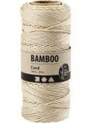Bambusový špagát 1 mm 65 m - prírodný biely