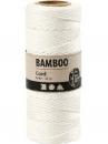 Bambusový špagát 1 mm 65 m - biely