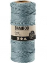 Bambusový špagát 1 mm 65 m - vintage modrý