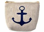 Bavlnená peňaženka s kotvou