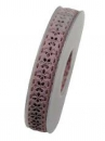Bavlnená stuha krojená 15 mm kvietky - vintage ružová