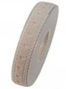 Bavlnená stuha krojená 15 mm srdiečka - béžová