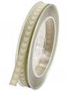 Bavlnená stuha so srdiečkami 1 cm - vintage zelená
