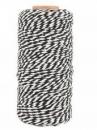 Bavlnený špagát 100 m - čierno-biely