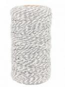 Bavlnený špagát 100 m - sivo-biely