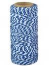 Bavlený špagát 100m - bielo-modrý