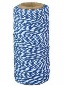 Bavlený špagát 55m - bielo-modrý