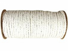 Bavlnený špagát - lano - 7mm - biele