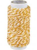 Bavlnený špagát 20m - bielo-oranžový