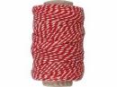 Bavlnený špagát 50m - červeno-biely
