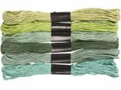 Bavlnky sada 6x8m - zelený mix