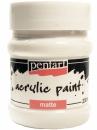 Akrylová farba matná - 230 ml - biela