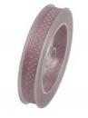 Látková stuha 10 mm bodky - vintage ružová