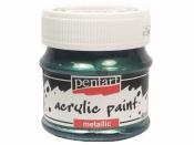 Metalická akrylová farba 50 ml - brečtanová zelená