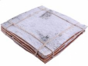Brezová kôra 20x20 cm - vintage biela