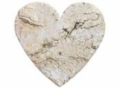 Srdce z brezovej 6 cm - prírodné
