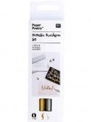 Brush pero zlaté strieborné - sada 2 ks