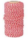 Bavlnený špagát 100m - bielo-červený