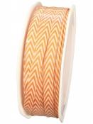 Látková stuha cik-cak 6 mm - oranžová
