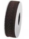 Čipkovaná stuha - čipka 25 mm - hnedá