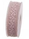 Čipkovaná stuha - čipka 25 mm - vintage ružová