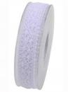 Čipkovaná stuha - čipka 25 mm - biela