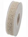 Čipkovaná stuha - čipka 25 mm - béžová