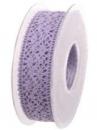 Čipkovaná stuha - čipka 38mm -pastelová fialová