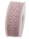 Čipkovaná stuha - čipka 38mm - vintage ružová