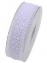 Čipkovaná stuha - čipka 38 mm - biela