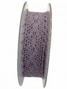 Čipkovaná stuha - čipka 25 mm - pastelová fialová