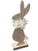 Jarná dekorácia drevený zajac 22 cm