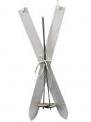 Lyže - vianočná závesná dekorácia 60 cm - biele