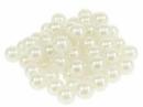 Plastové korálky perličky 8mm 10g - krémové