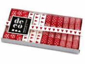 Dekoračné stužky 10mm 12x1m - vianočné červené