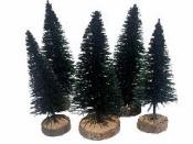 Mini dekoračný vianočný stromček 6 cm
