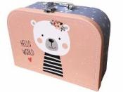 Papierový detský kufrík  - medvedík
