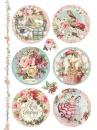 Ryžový papier A4 - ružové vianočné gule