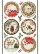 Ryžový papier A4 - červené vianočné gule