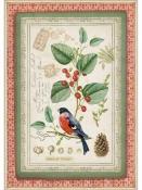 Ryžový papier A4 - vtáčik na vetvičke