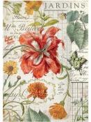 Ryžový papier A4 - červený tulipán