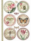 Ryžový papier A4 - Botanic Rounds