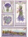 Ryžový papier A4 - štítky Provence a levanduľa