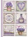 Ryžový papier A4 - štítky Provence