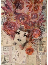 Ryžový papier A4 - ženská tvár